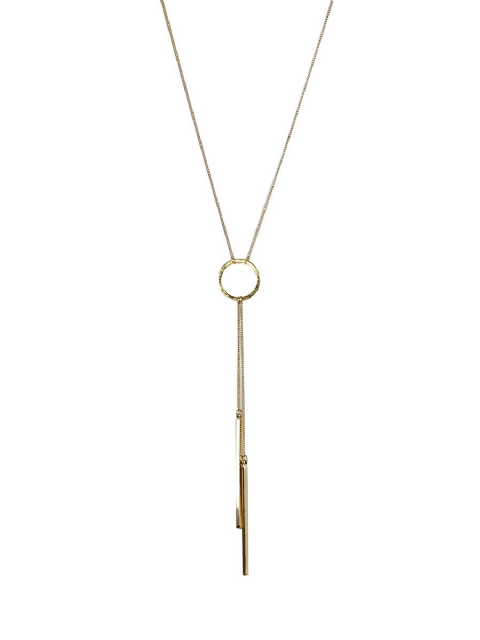 DALILAH GOLD CIRCLE 2 DROP NECKLACE